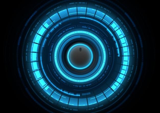 Sfondo di tecnologia del circuito con sistema di connessione dati digitali hi-tech e progettazione elettronica del computer