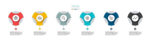 Il formato circolare può essere utilizzato per descrivere una varietà di presentazioni, comunicazioni e pubblicità e come infografica vettoriale di marca