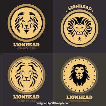 Loghi circolari delle leone