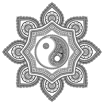 Illustrazione di mandala modello circolare