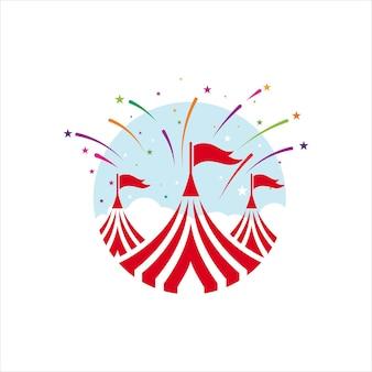Modello di progettazione dell'illustrazione di vettore dell'elemento del circo