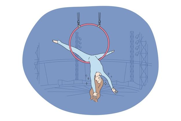 Concetto di intrattenimento delle prestazioni del circo