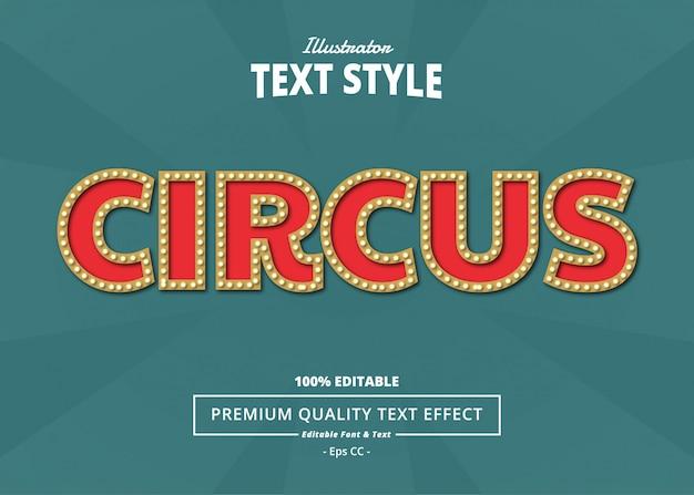 Effetto di testo del circo