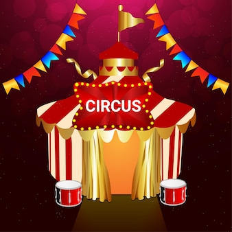 Annata di circo con tenda