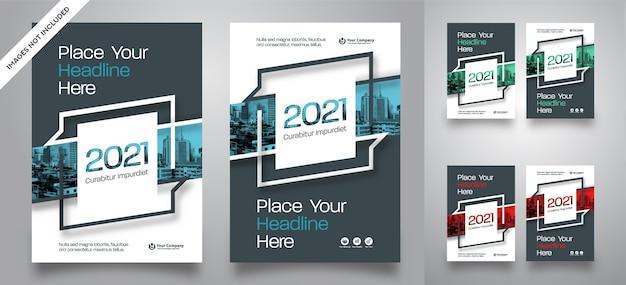 Modello di vettore di progettazione della copertina di libro di affari del fondo della città
