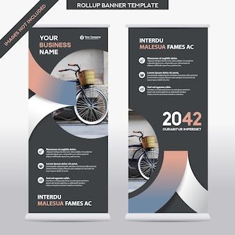 Modello di progettazione di roll up di affari di sfondo della città. può essere adattato a brochure, report annuali, riviste, poster, presentazioni aziendali, flyer, siti web