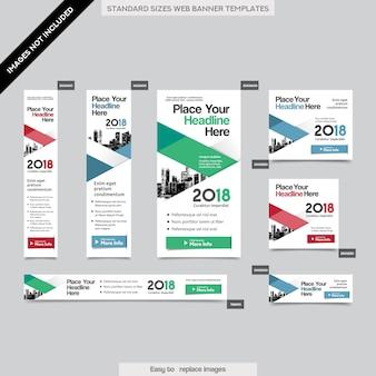 Sfondo di città modello aziendale di banner aziendali in dimensioni multiple. facile da adattarsi a brochure, rapporti annuali, riviste, poster, supporti pubblicitari aziendali, flyer, sito web.
