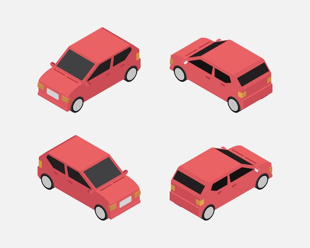 City car isometric classic vector