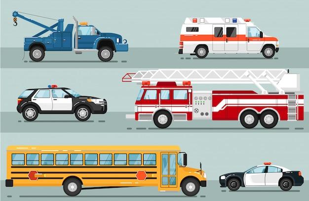 Insieme isolato trasporto di emergenza della città