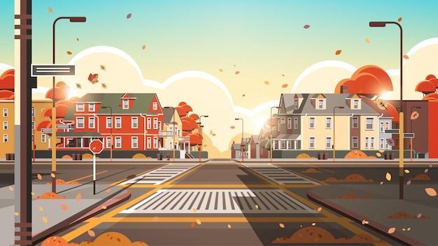 Edifici di facciata della città vuoti senza persone strada urbana case immobiliari esterno