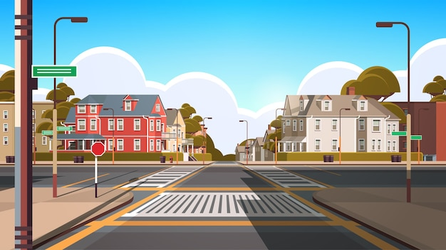 Edifici di facciata della città vuoto nessun popolo immobiliare strada urbana