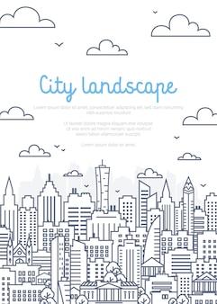 Poster di paesaggio della città