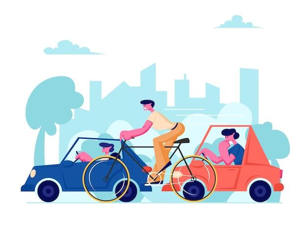 City life traffic
