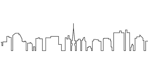 Design semplice dello sfondo della linea di città
