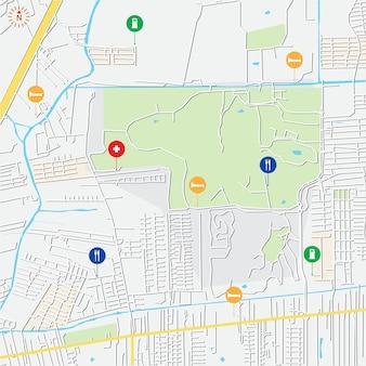 Mappa della città per qualsiasi tipo di informazione digitale grafica e pubblicazione cartacea mappa gps