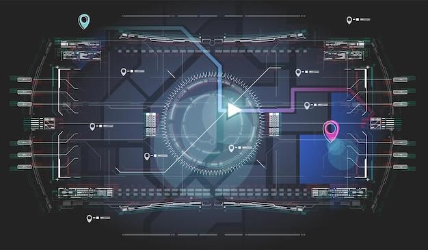 Navigazione sulla mappa della città.