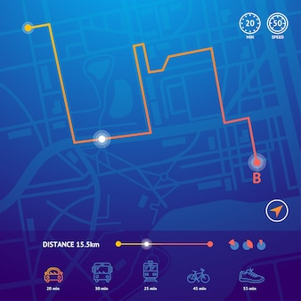Navigazione sulla mappa della città