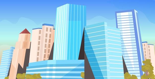 I grattacieli della città vedono il paesaggio urbano moderno