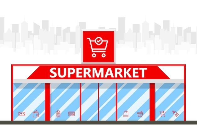 Illustrazione del supermercato della città