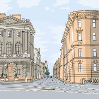 Cityscape, l'ampio viale nel centro della città