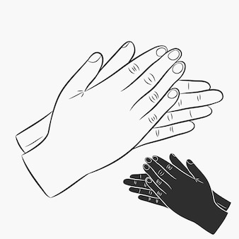Battere le mani. set di icone di applausi. illustrazione vettoriale.