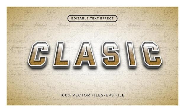 Classic - effetto di testo modificabile con illustrator vettore premium