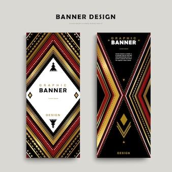 Modello di banner classico con motivi etnici