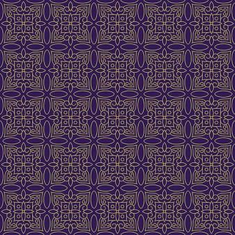 Fondo senza cuciture classico batik. carta da parati lussuosa con mandala a foglia elegante motivo floreale tradizionale