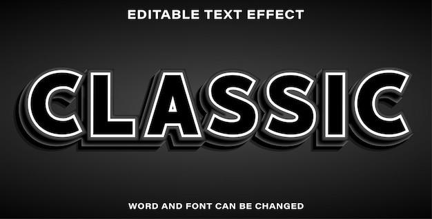 Bellissimo effetto di testo classico