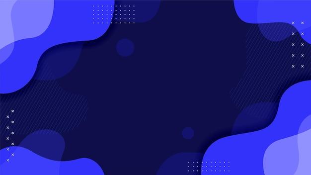 Carta da parati blu classica in stile astratto c