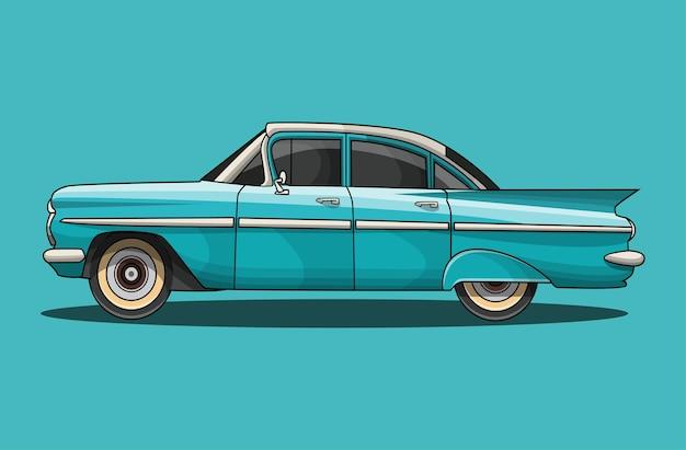 Llustration del fumetto dell'automobile classica