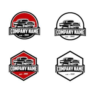 Modello di logo vintage di società di auto d'epoca