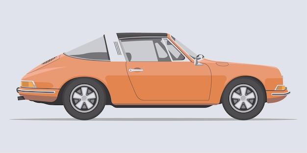 Vista laterale dell'automobile classica