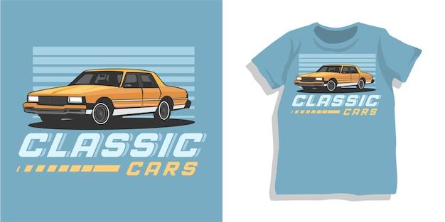 Design classico della maglietta dell'auto