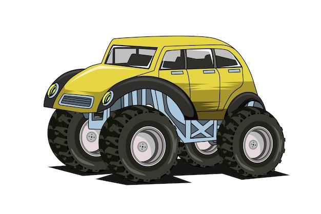 Disegno della mano dell'illustrazione dell'illustrazione dell'annata dell'auto d'epoca