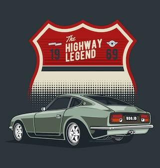 Auto classica con badge