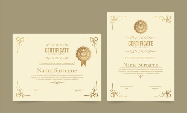 Modello di premio certificato classico
