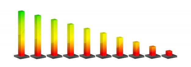 Grafico classico. diagramma gradiente