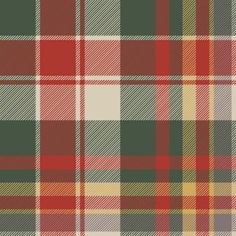Trama di tessuto senza cuciture diagonale scozzese classico check