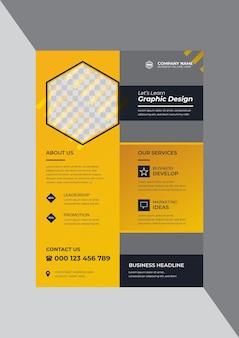 Modello di progettazione di volantino per agenzia di affari aziendali classico