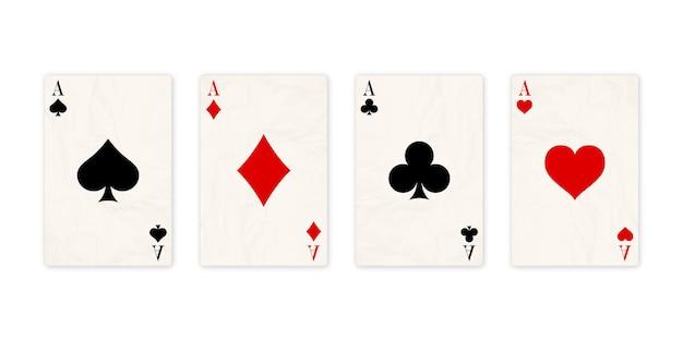 Classico quattro assi su sfondo bianco