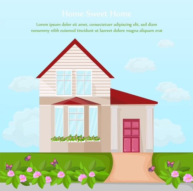 Facciata di architettura classica casa