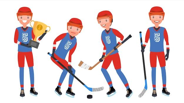 Giocatore di hockey su ghiaccio classico