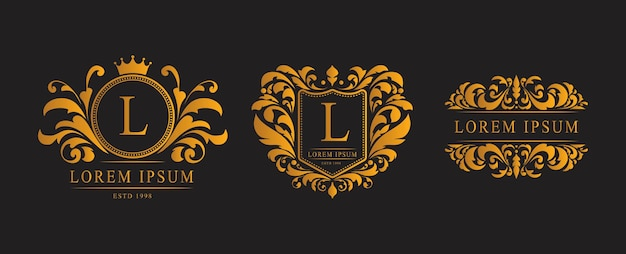 Logo classico di lusso in oro
