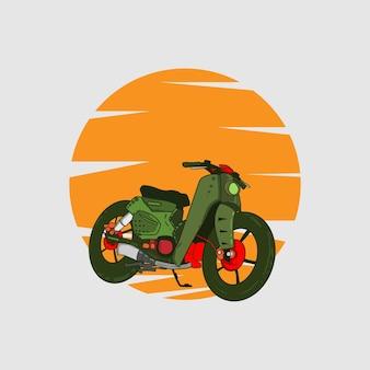 Illustrazione di motocicletta classica