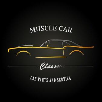 Silhouette classica muscle car.