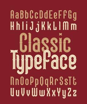 Set di caratteri in stile classico Vettore Premium