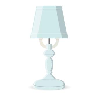 Lampada da tavolo classica isolata. retro vettore piatto