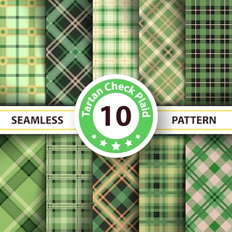 Classico scozzese, merry christmas check plaid seamless patterns