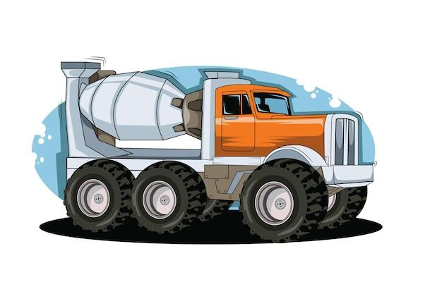 Disegno classico della mano dell'illustrazione dell'illustrazione del camion